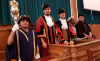 Young ESOL students try own the civic robes for size at Barnet Town Hall